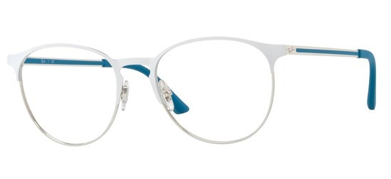 Ray-Ban RX6375-2948 Blanc Argent PROMO T53 bbd4fd0be69e