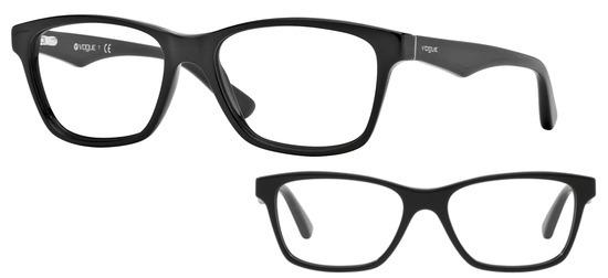lunettes de vue Vogue VO2787-W44 Noir PROMO T53