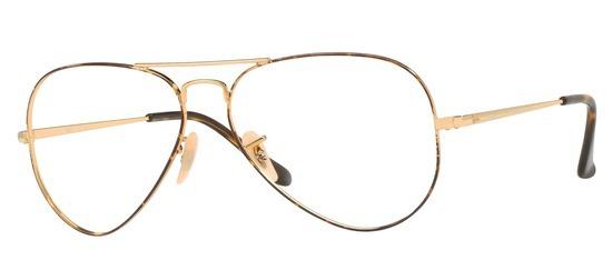 lunettes de vue Ray-Ban Aviator RX6489-2945 Or Havane
