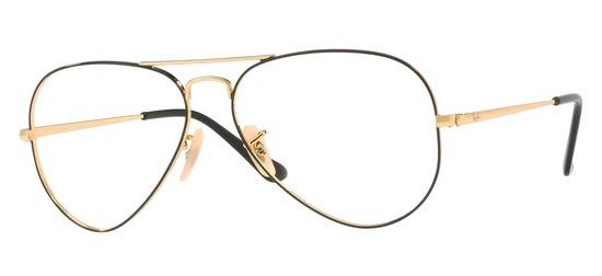 lunettes de vue Ray-Ban Aviator RX6489-2946 Or Noir