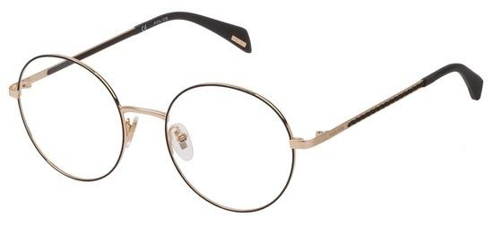 lunettes de vue Police VPL841-0302 Or Rose Filet Noir Donna Penrose 2