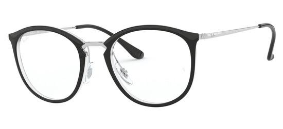 lunettes de vue Ray-Ban RX7140-5852 Noir Cristal Argent