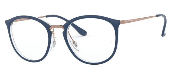 lunettes de vue Ray-Ban RX7140-5853 Bleu Cristal Gun