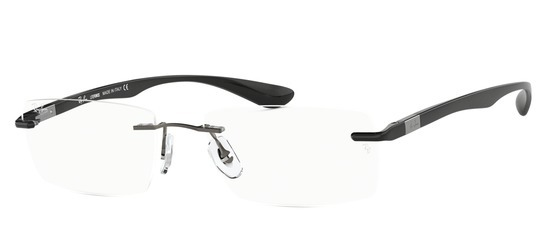 lunettes de vue Ray-Ban RX8724-1000 Gun sombre Noir brillant