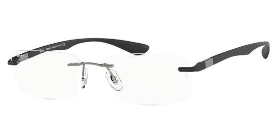 lunettes de vue Ray-Ban RX8724-1128 Gun clair Noir Satin