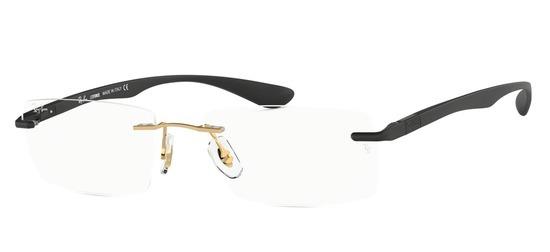 lunettes de vue Ray-Ban RX8724-1201 Or Noir Satin