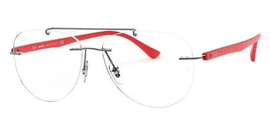 lunettes de vue Ray-Ban RX8749-1192 Gun Rouge