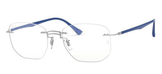 lunettes de vue Ray-Ban RX8757-1193 Argent bleu