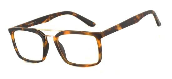lunettes de vue ExperOptic Trudo Ecaille Sombre Or