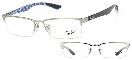 lunettes de vue Ray-Ban RX8412 2502 Gun carbone noir  PROMO T52