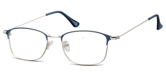 lunettes de vue ExperOptic Key West Argent Bleu