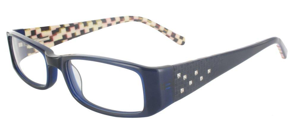 lunettes de vue ExperOptic Andromede Bleu Strass