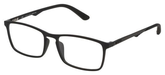 lunettes de vue Police VPL694-06AA PROMO T55 Noir Mat Gomme Carbone