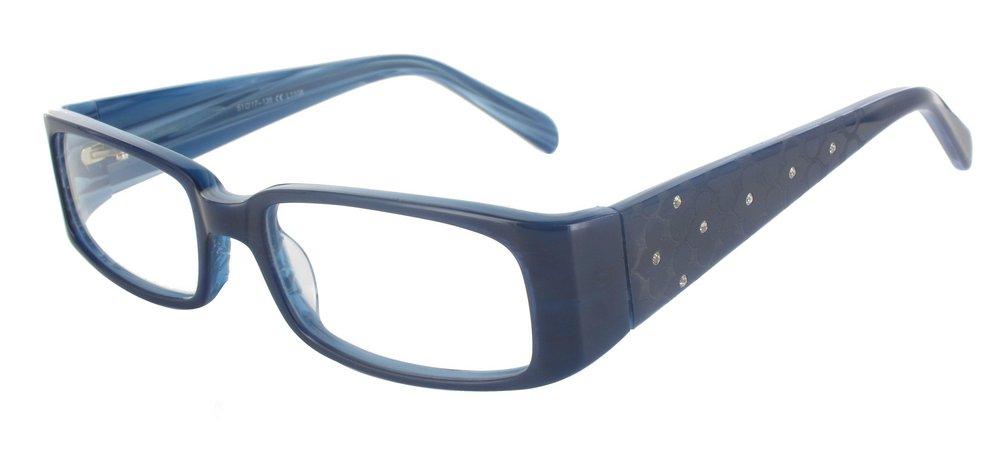 lunettes de vue ExperOptic Antares Bleu fonce et Bleu flamme