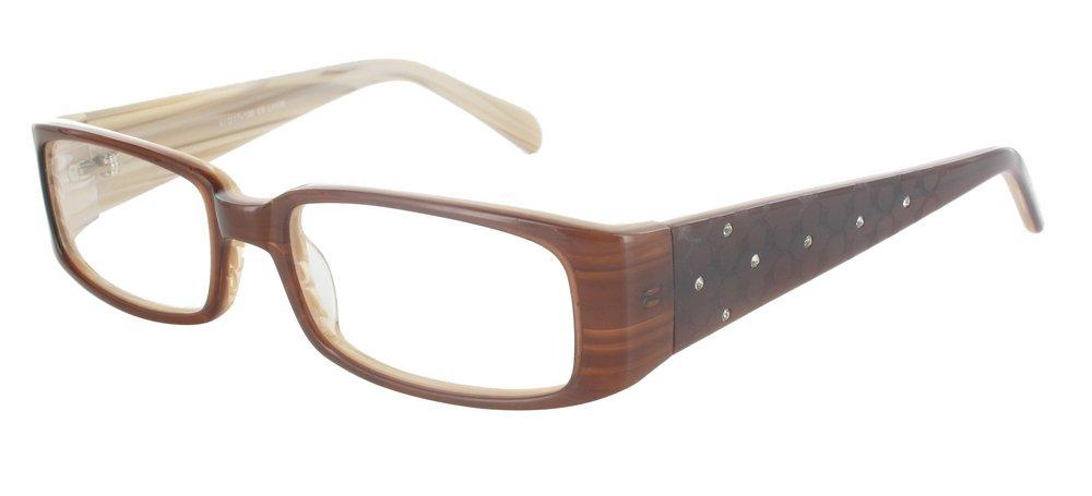 lunettes de vue ExperOptic Antares Brun et Creme flamme