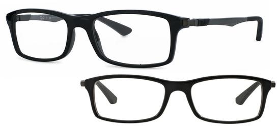 lunettes de vue Ray-Ban PROMO Taille 52 - RX7017-2000 noir brillant