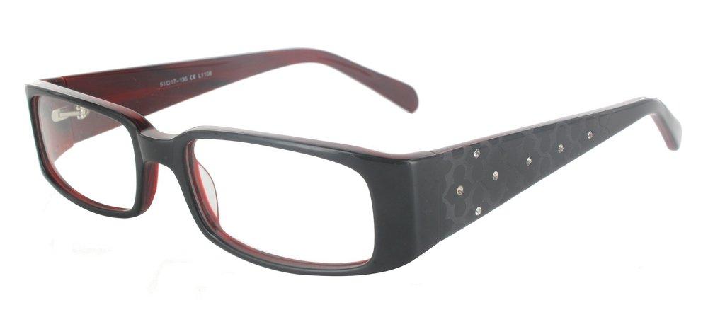 lunettes de vue ExperOptic Antares Noir et Rouge flamme