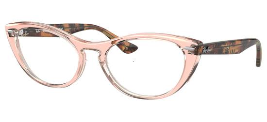 lunettes de vue Ray-Ban RX4314V-8080 Transparent Marron