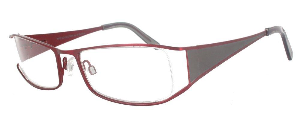 lunettes de vue ExperOptic Sarator Bordeaux et Gris