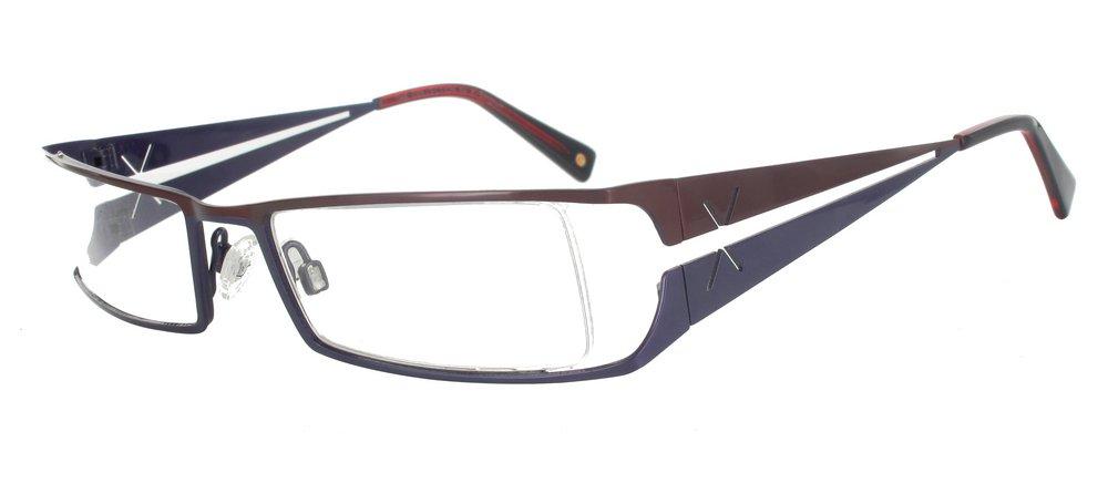lunettes de vue ExperOptic Samara Bourgogne et Violet