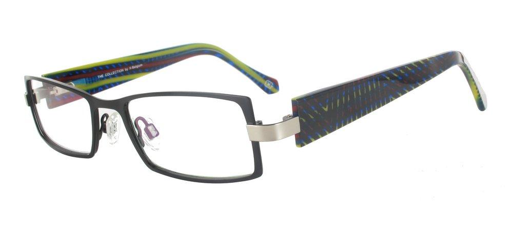 lunettes de vue ExperOptic Beaubourg Noir et Arc en ciel
