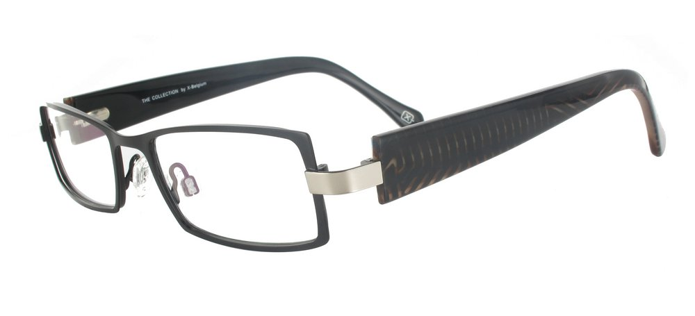 lunettes de vue ExperOptic Beaubourg Marron sombre et et Zebrures
