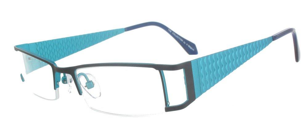 lunettes de vue ExperOptic Ondine Noir et bleu azur