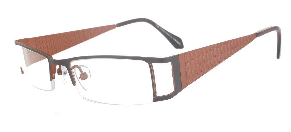 lunettes de vue ExperOptic Ondine chocolat et ocre brun
