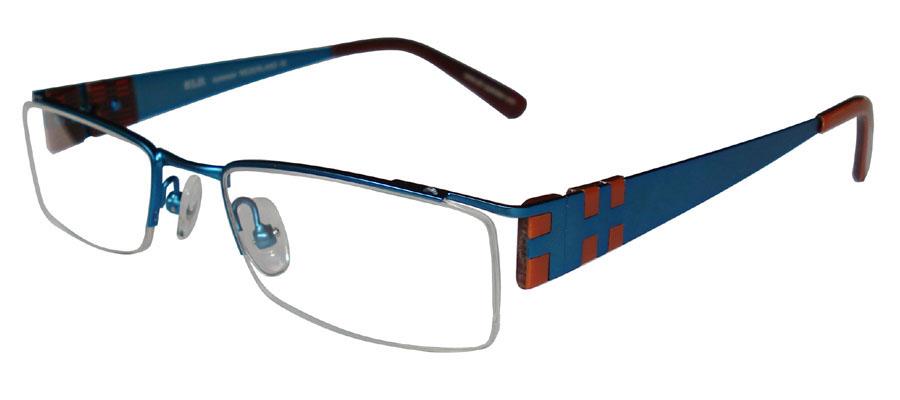 lunettes de vue ExperOptic Lancon Bleu celeste Abricot