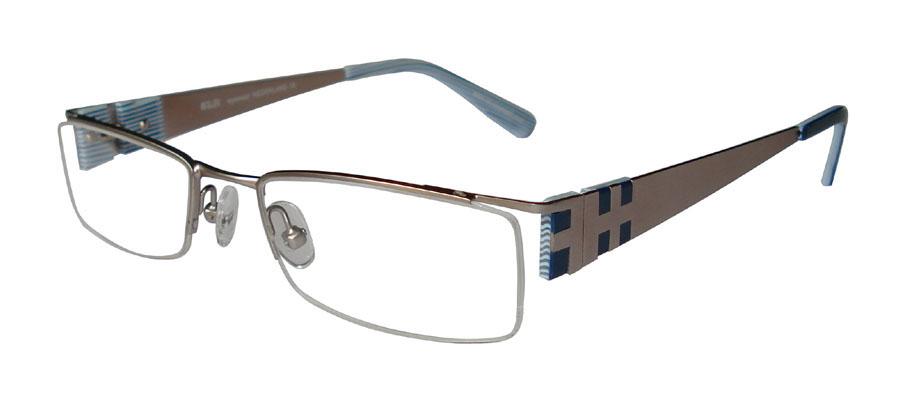 lunettes de vue ExperOptic Lancon Argent Bleu cobalt