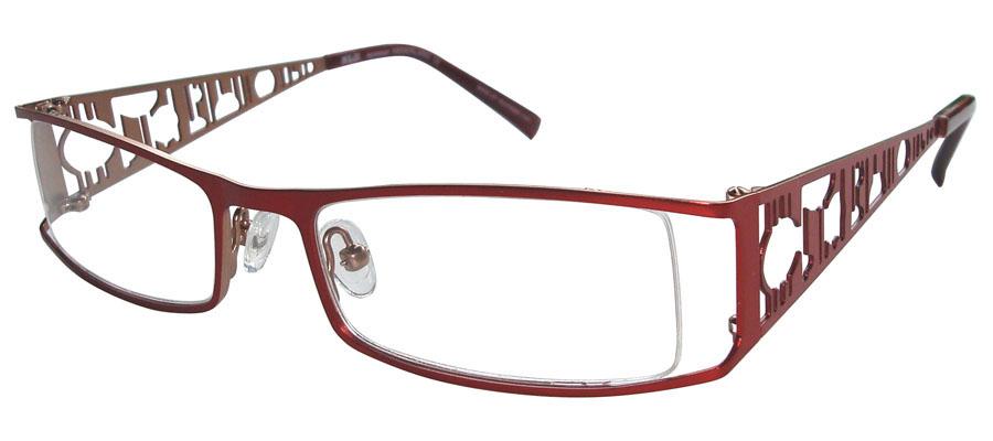 lunettes de vue ExperOptic Izmir Rouge cardinal Cannelle