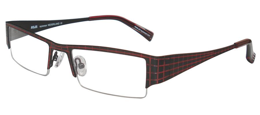 lunettes de vue ExperOptic Aberdeen Noir Rouge