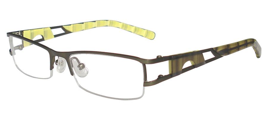 lunettes de vue ExperOptic Jerash Olive Citron