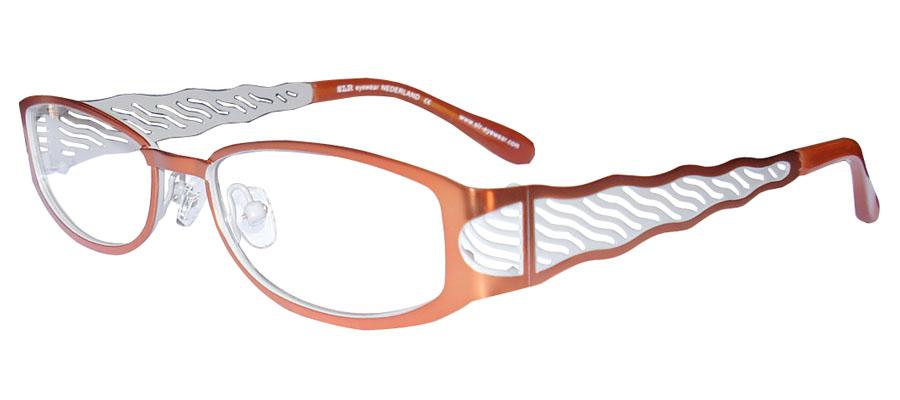 lunettes de vue ExperOptic Pamandzi Abricot Gris perle