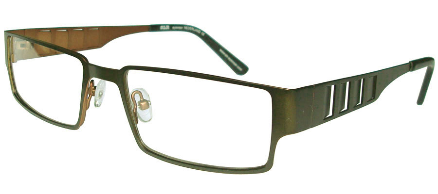 lunettes de vue ExperOptic Vali Vert kaki Cuivre
