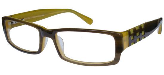 lunettes de vue ExperOptic Pangasius Kaki Ambre