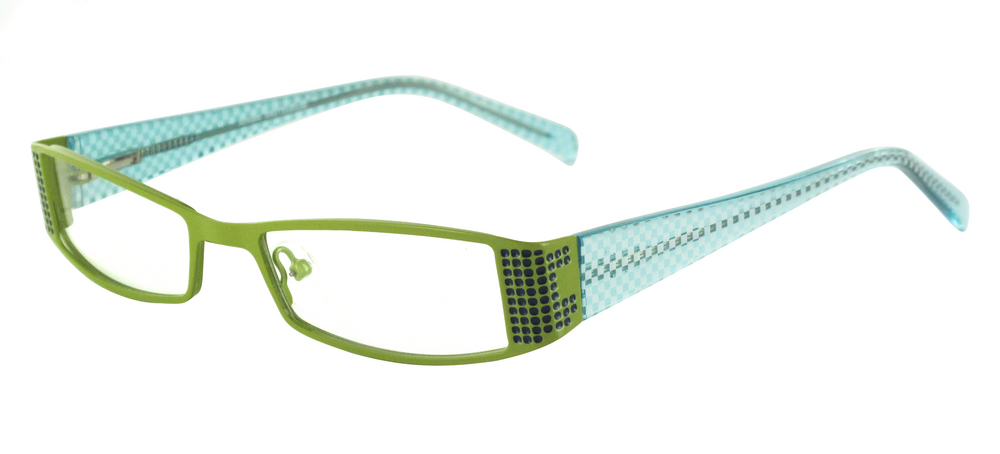 lunettes de vue ExperOptic Ibiza Vert tilleul Bleu