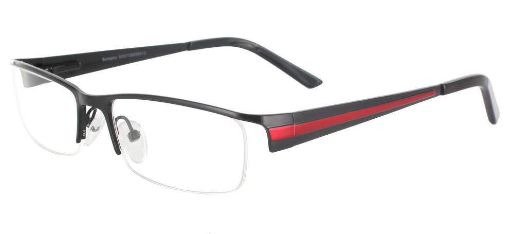 lunettes de vue ExperOptic Oslo Noir Rouge