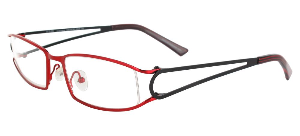 lunettes de vue ExperOptic Ankara Rouge cardinal Noir