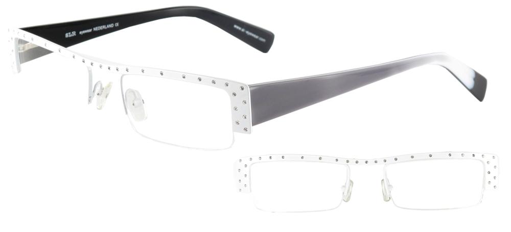 lunettes de vue ExperOptic Marilyn Blanc Strass