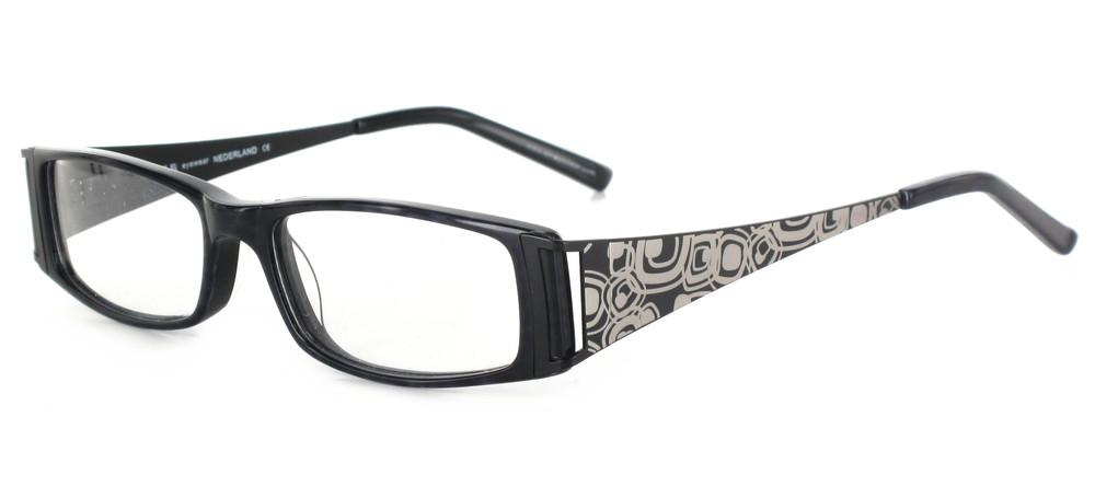 lunettes de vue ExperOptic Infinity Noir d'encre et argent